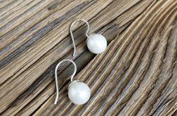 Kolczyki z perłą, handmade. Srebro. Perła seashell