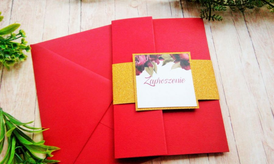 Zaproszenia na ślub w folderze