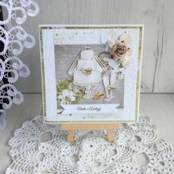 Kartka ślubna 3D z tortem, na ślub GOTOWA