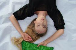 torebka kopertówka zielony pierożek