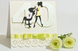 Kartka na 40 Urodziny dla fryzjerki