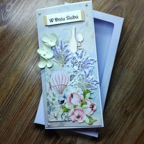 Ślubna kartka w pudełku #1