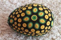 Pisanka quillingowa zielono - żółta