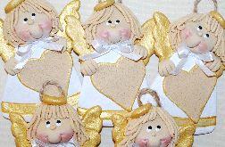 Dziewczynki z sercami - aniołki z masy solnej - chrzest, komunia święta