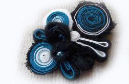 Niebieska broszka 2w1