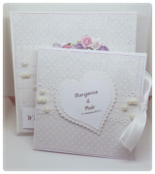 Karnet ślubny w pudełku