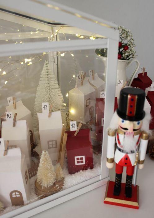 Kalendarz adwentowy - świąteczna wioska
