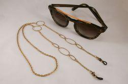 Łańcuszek do okularów stal złota