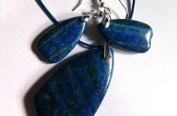 Lapis lazuli, piękny zestaw biżuterii,srebro