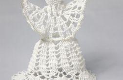 Ozdoby choinkowe: aniołki haftowane