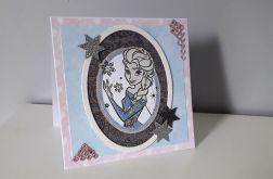 Kartka na urodziny Elsa Kraina Lodu