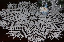 Świąteczna srebrzysto-biała serweta
