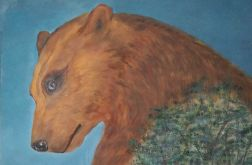 Niedźwiedzica 70x100 akryl