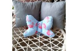 Poduszka motylek - flamingi