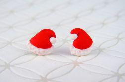 Kolczyki Czapeczki Świętego Mikołaja