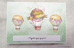 Kartka urodzinowa lub imieninowa z motywem balonów