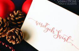 Wesołych Świąt - letterpress PR-113