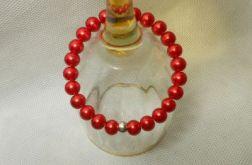 156. Bransoleta z pereł szklanych 8mm