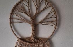 Dekoracja ścienna - makrama - drzewo