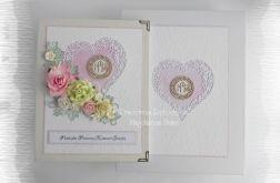 Album w pudełku IHS różowy komunia
