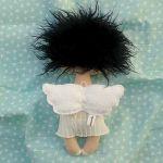 ANIOŁEK lalka - dekoracja tekstylna, OOAK/23 - tak wyglądam z tyłu