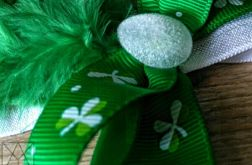 Opaska niemowlęca zieleń i biel