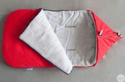 Zimowy śpiworek- czerwony