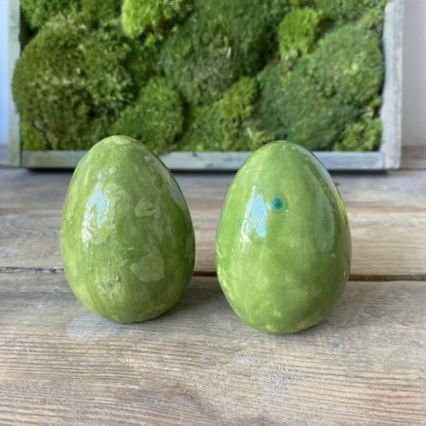 Jajko ceramiczne zielone