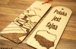 zakładka wypalana z Polski z widokiem