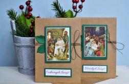 2 kartki świąteczne ŚWIĘTA Noc Boże Narodzeni
