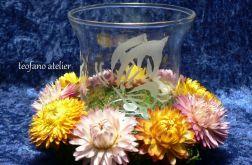 Lampion z suszonymi kwiatami