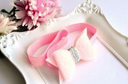 FairyBows opaska kokardka różowa