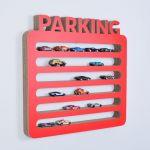 Półka na resoraki PARKING | czerwony