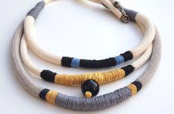 Naszyjnik trzy bawełniane liny Kazu