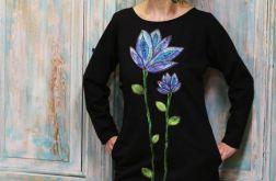Sukienka Tunika Niebieski Kwiat