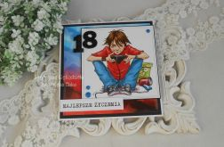 Kartka na 18 urodziny w kopercie 19