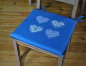 Poduszki na krzesła,siedziska- indygo 4szt