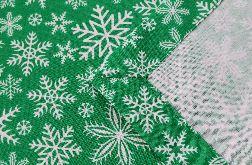Świąteczny bieżnik na stół Boże Narodzenie- Śnieżynki- 145 cm/ 40 cm. 100 % bawełna!