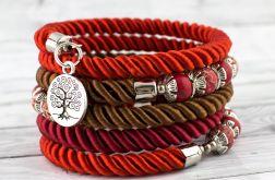 Bransoletka owijana czerwona Drzewo