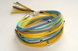 Zawijana żółty i niebieski