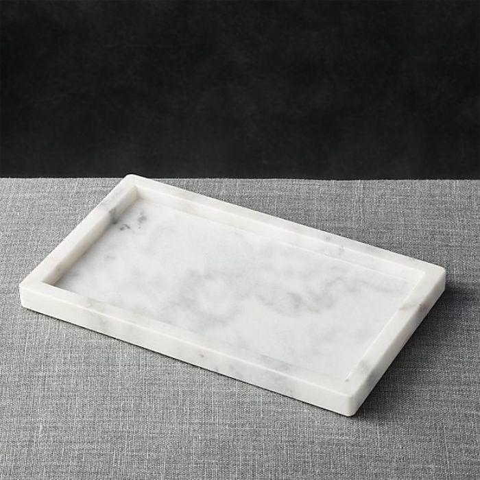 Taca z marmuru Bianco Carrara 35 x 20 cm