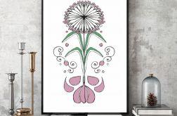 Kwitnące Zioło... art print A4