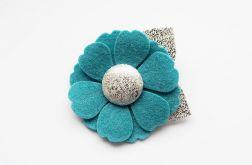 Spinka do włosów kwiatek turkusowy x