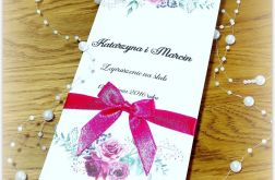 Zaproszenie Akwarela Róża