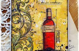 Wino - kartka urodzinowa