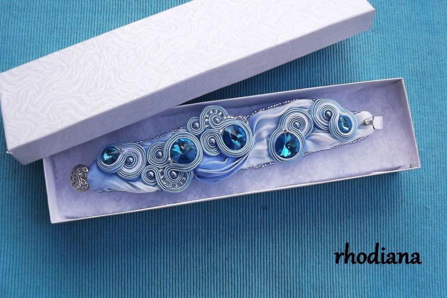 Blue Sky Shibori - bransoletka sutasz