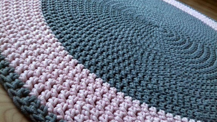 Bawełniany okrągły dywan 130cm