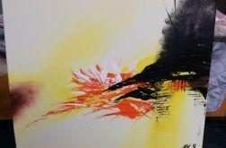 Abstrakcja zółty obraz 40x50cm