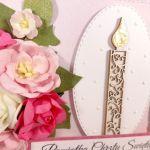 Kartka na Chrzest ze świecą #362