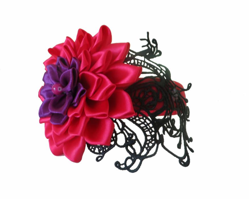 Opaska fascynator kwiat kanzashi